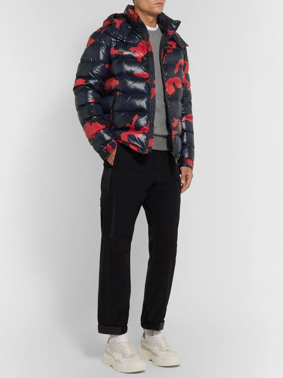 Valentino Camouflage-Print Quilted Shell Down Jacket