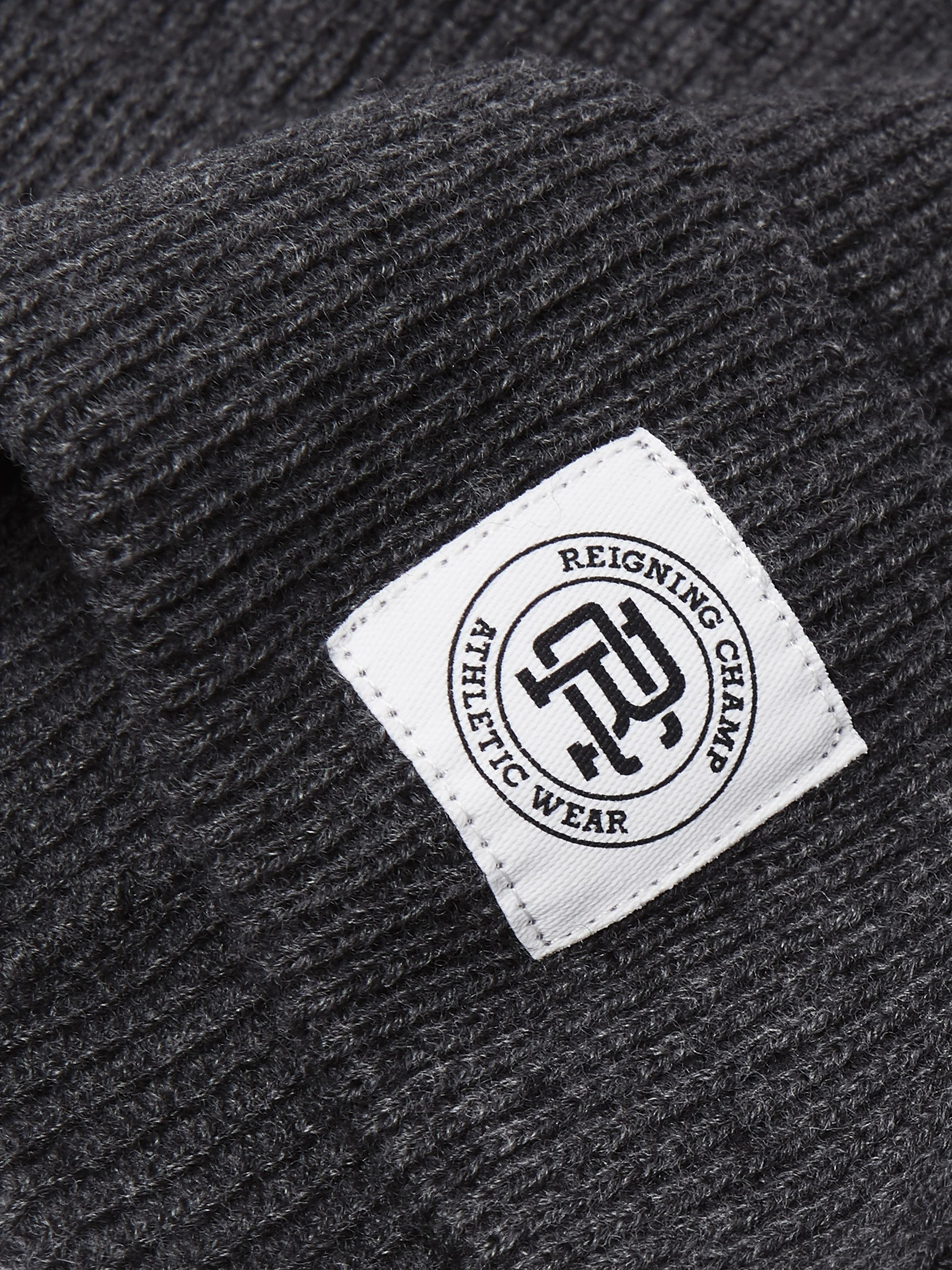 Reigning Champ Logo-Appliquéd Ribbed Wool Beanie