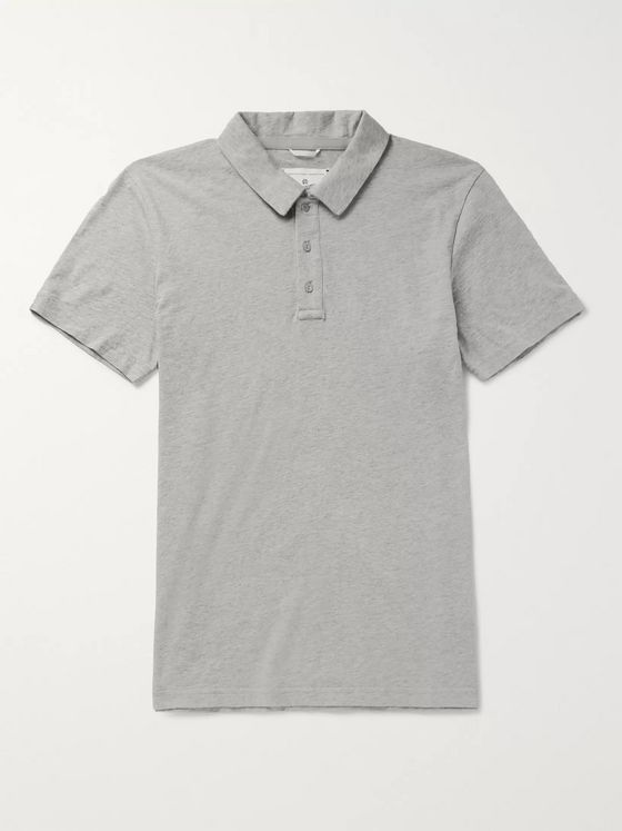 Reigning Champ Slim-Fit Mélange Pima Cotton-Jersey Polo Shirt
