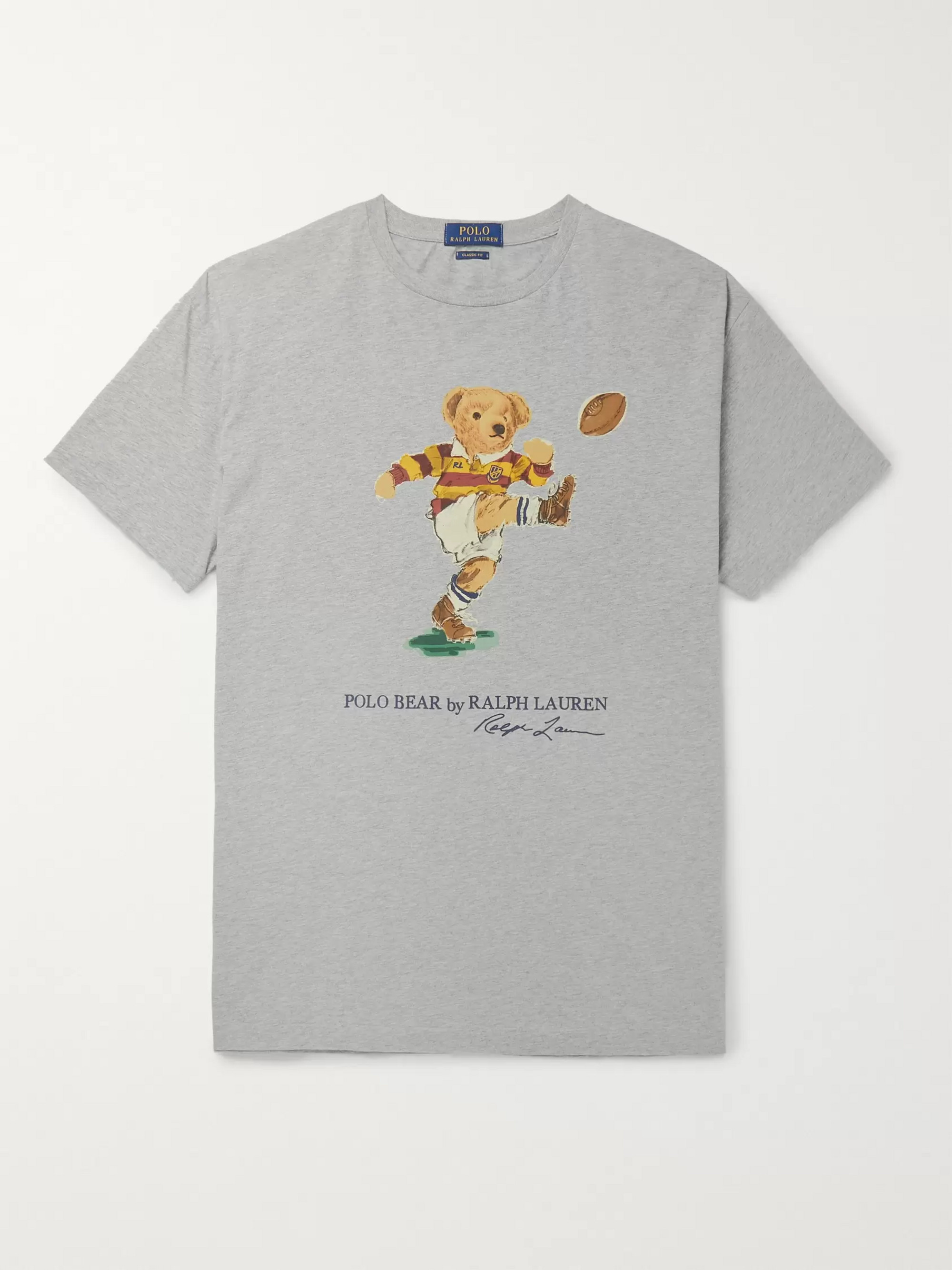 Polo Ralph Lauren Printed Mélange Cotton-Jersey T-Shirt