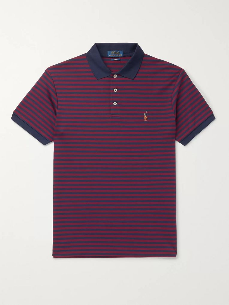 Polo Ralph Lauren Slim-Fit Striped Cotton-Jersey Polo Shirt
