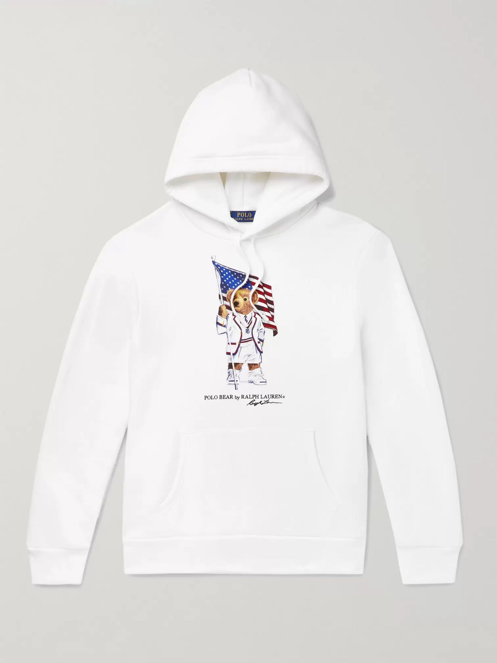 Polo Ralph Lauren Printed Fleece-Back Cotton-Blend Jersey Hoodie