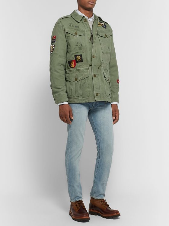Polo Ralph Lauren Appliquéd Cotton Field Jacket