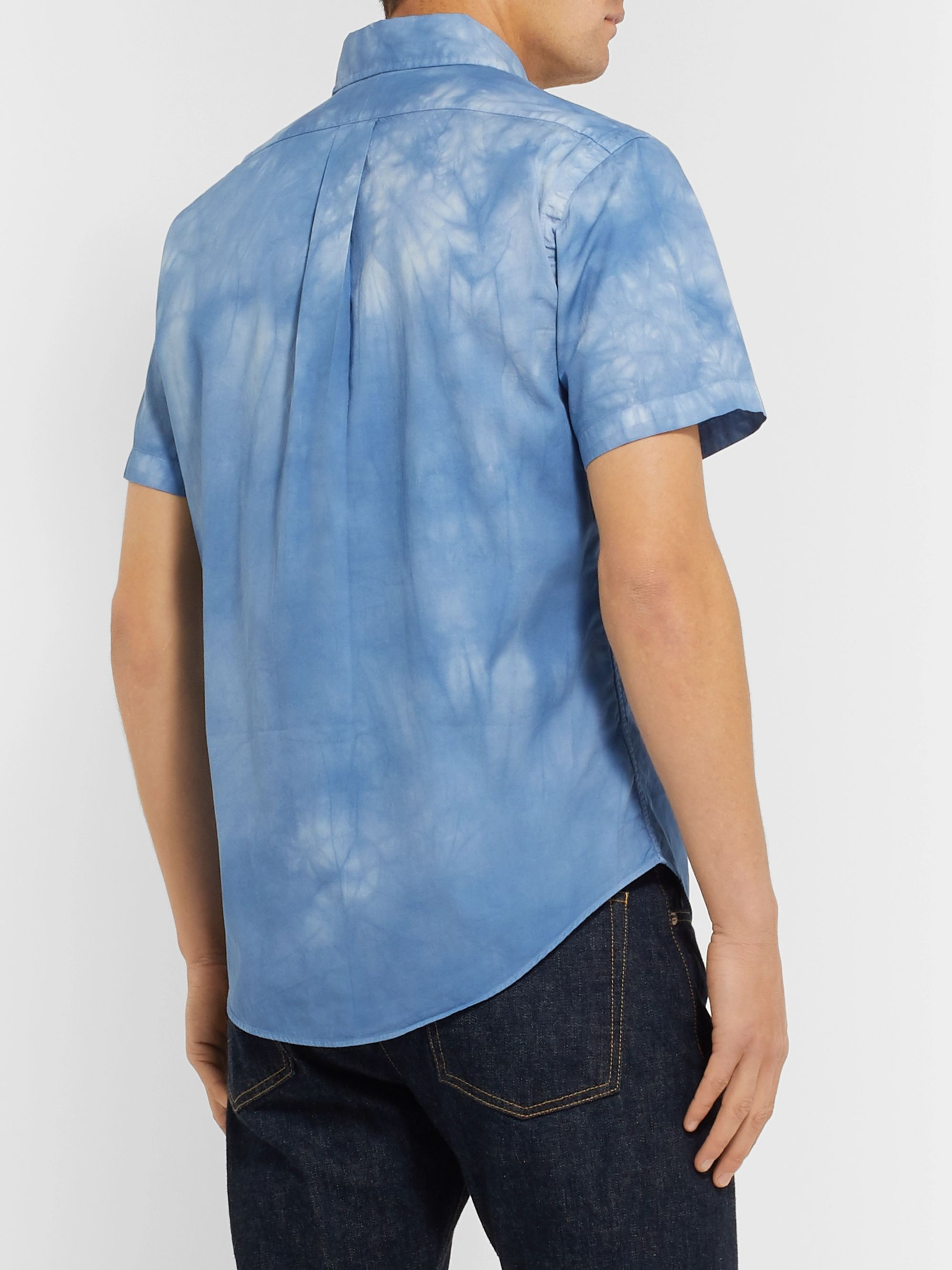 Polo Ralph Lauren Slim-Fit Button-Down Collar Tie-Dyed Cotton Shirt