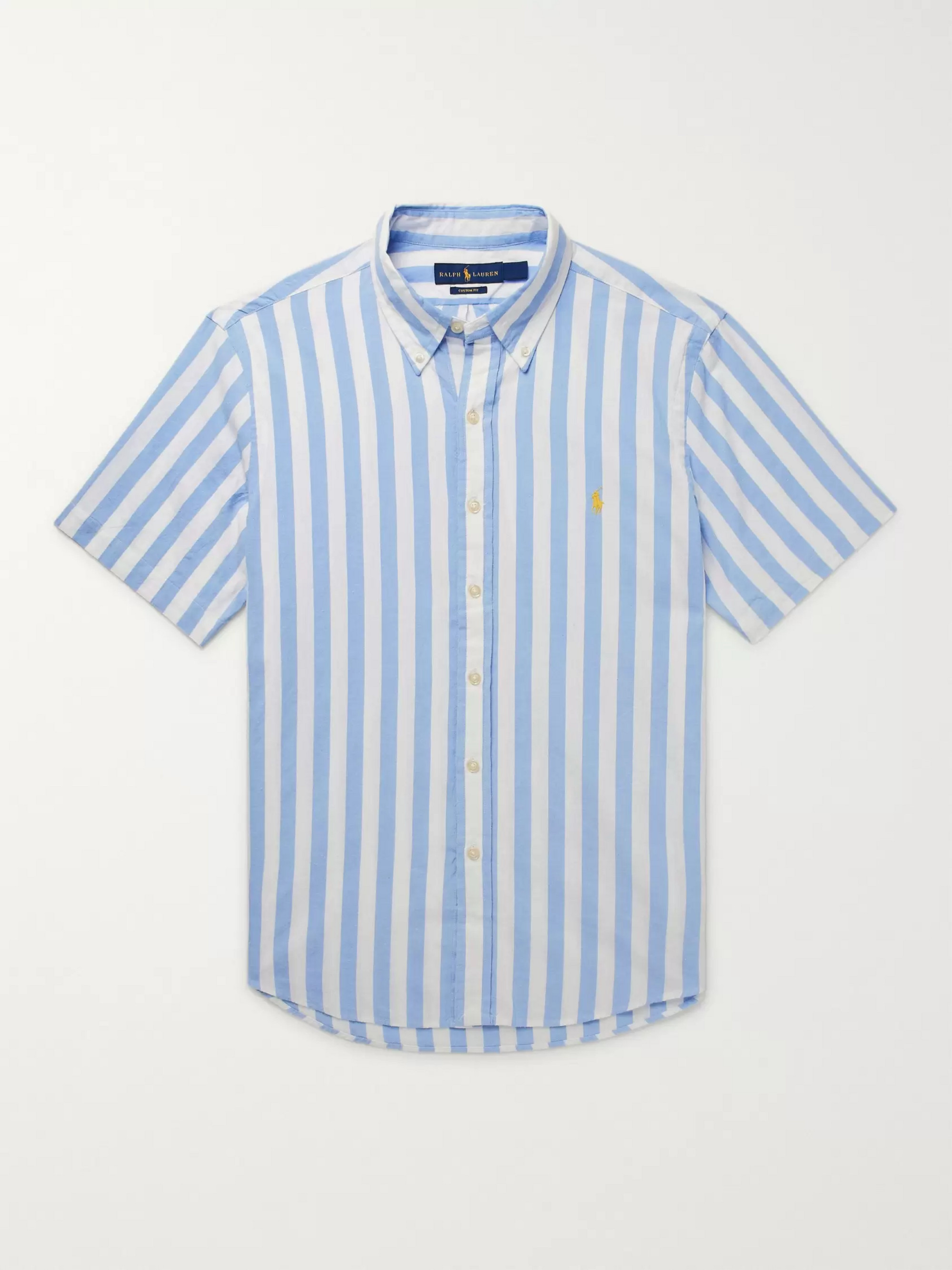 Polo Ralph Lauren Button-Down Collar Striped Cotton Shirt