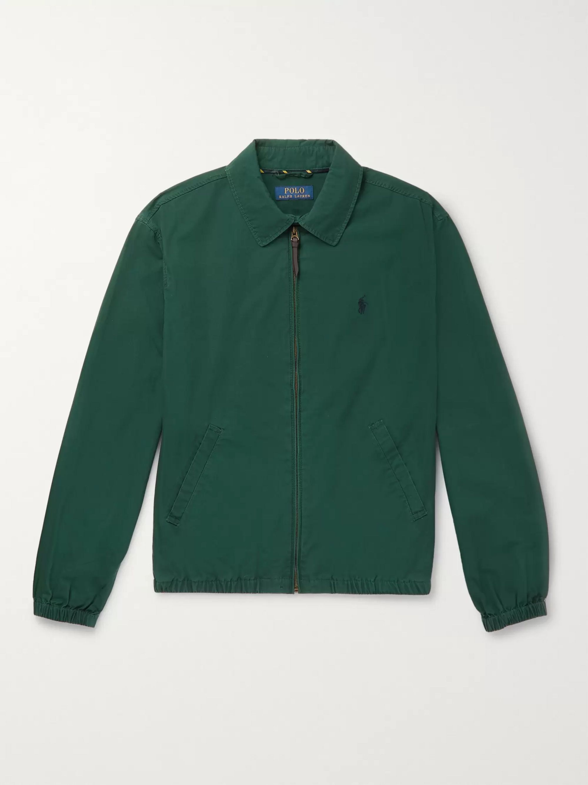 Green Cotton Harrington Jacket | Polo Ralph