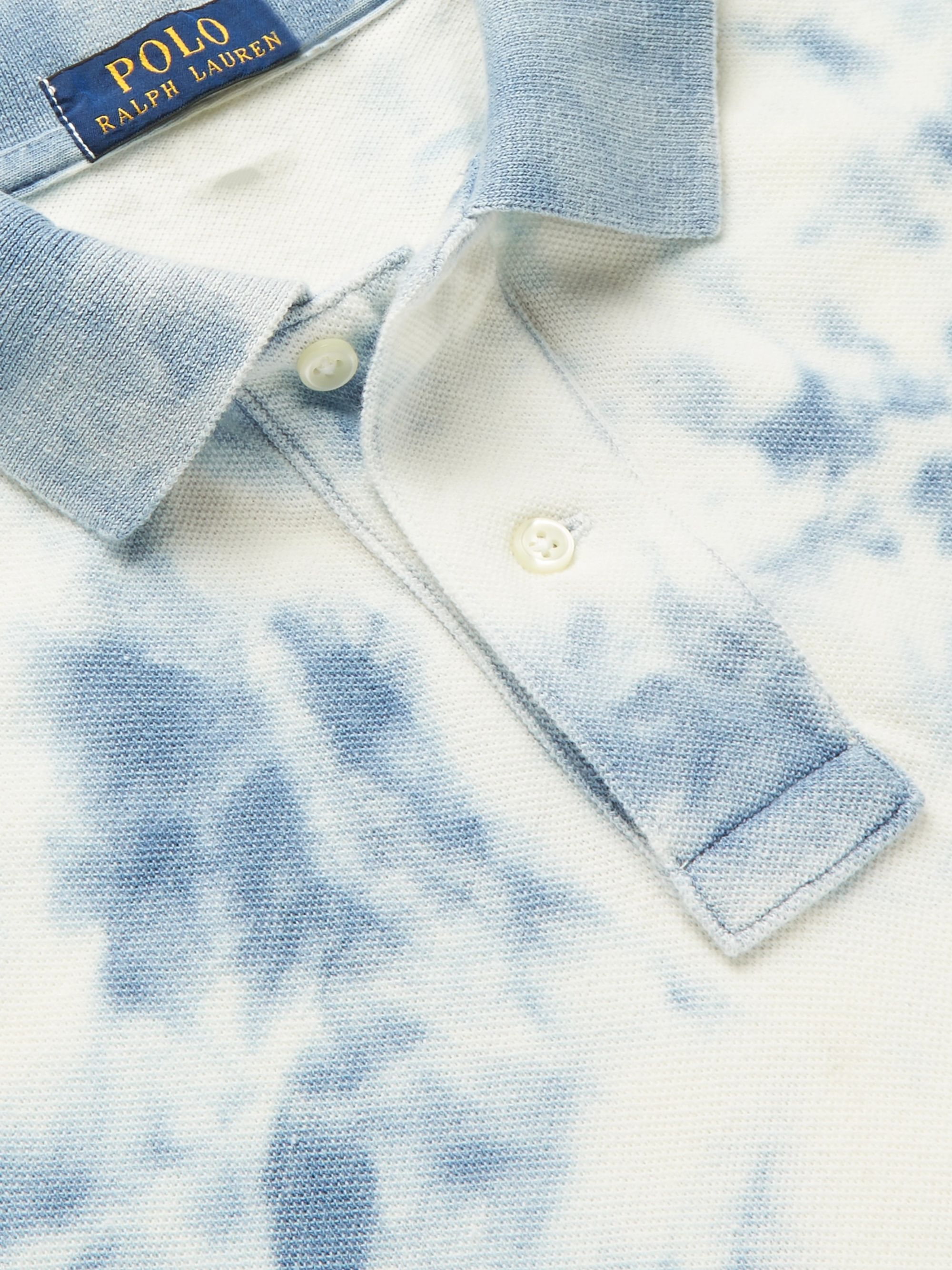 Polo Ralph Lauren Slim-Fit Tie-Dyed Cotton-Piqué Polo Shirt