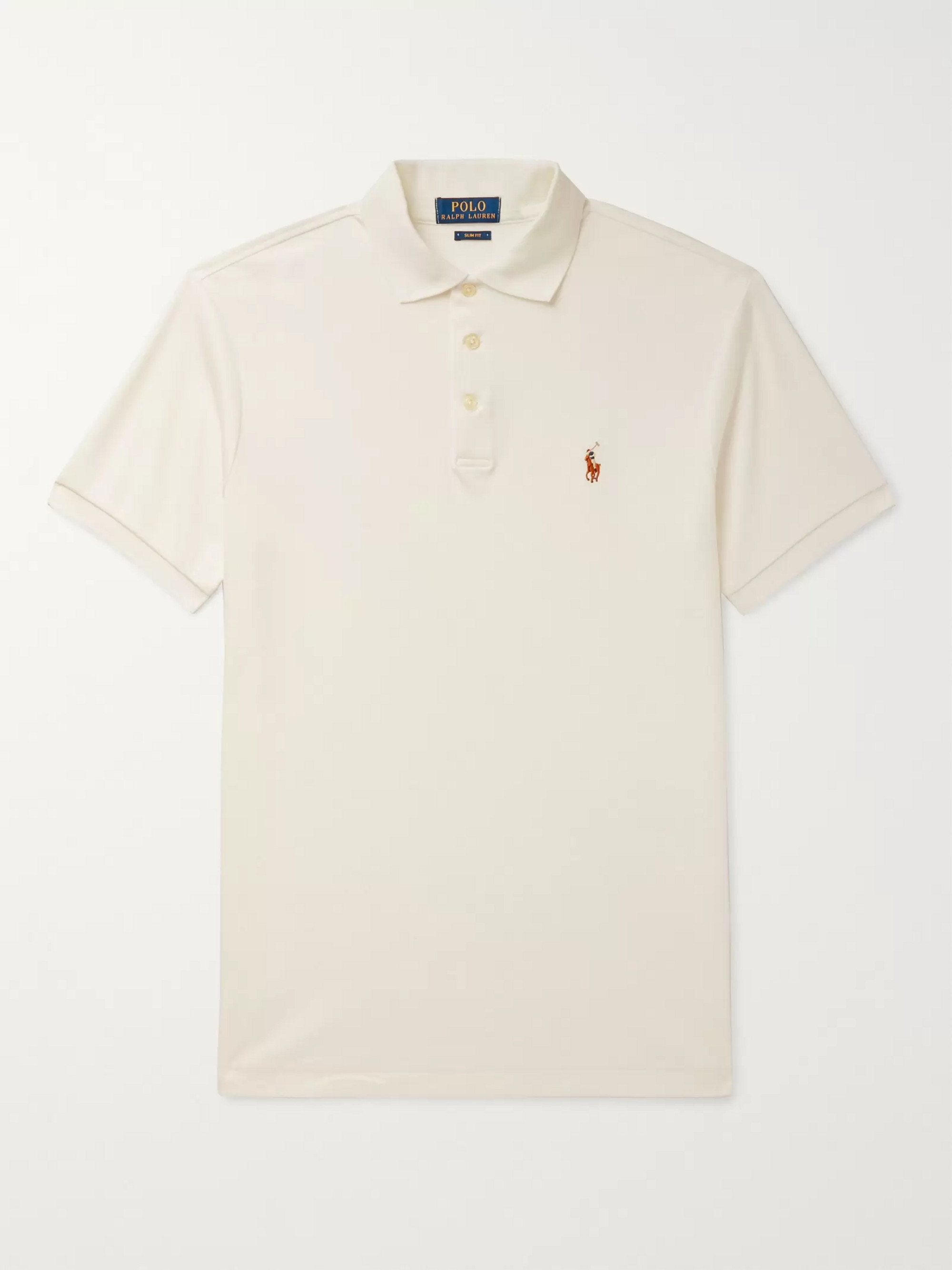 e867ca8bcbe86 Polo Ralph Lauren Slim-Fit Mercerised Cotton-Piqué Polo Shirt