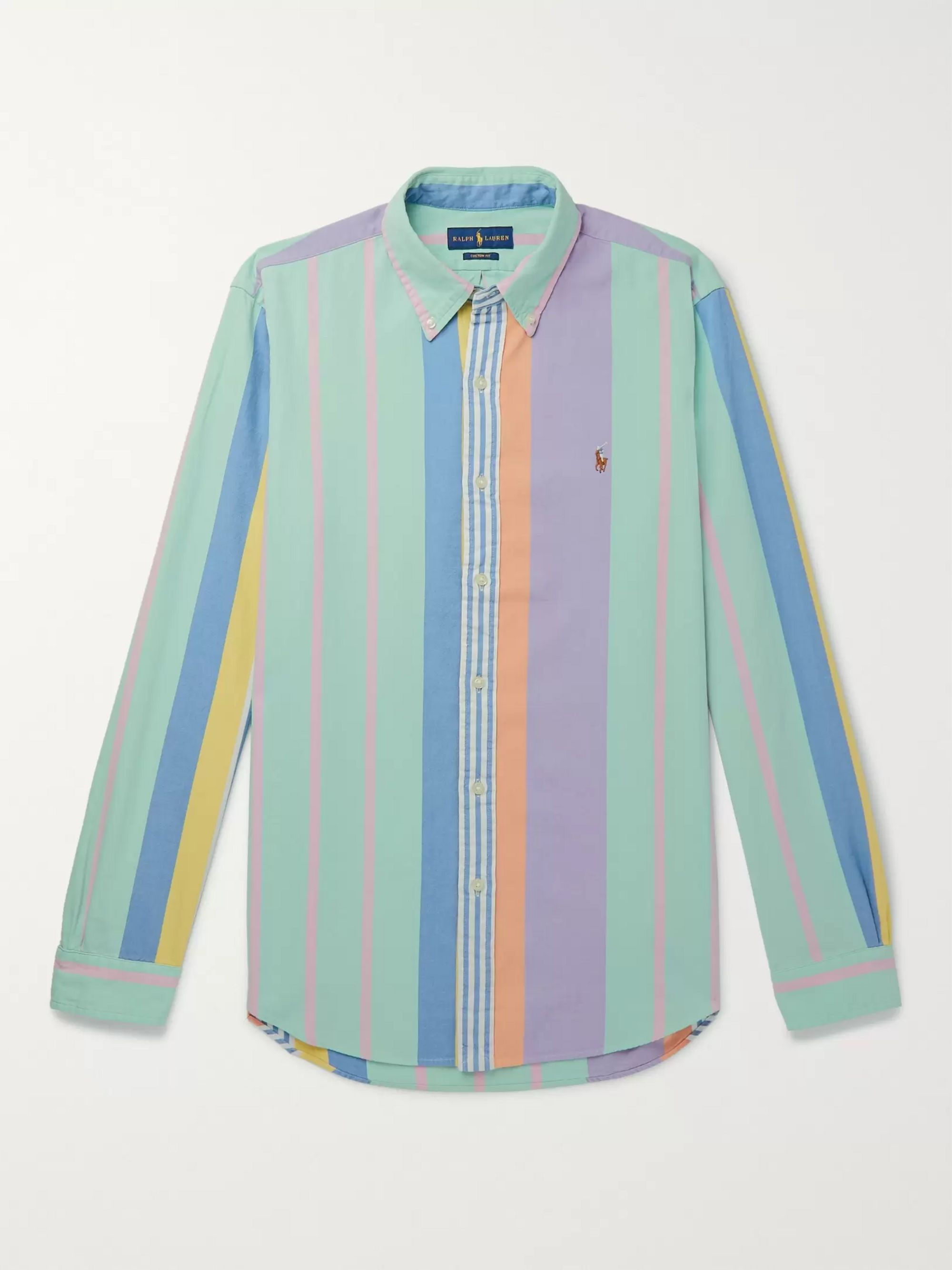 Polo Ralph Lauren Button-Down Collar Striped Cotton Oxford Shirt