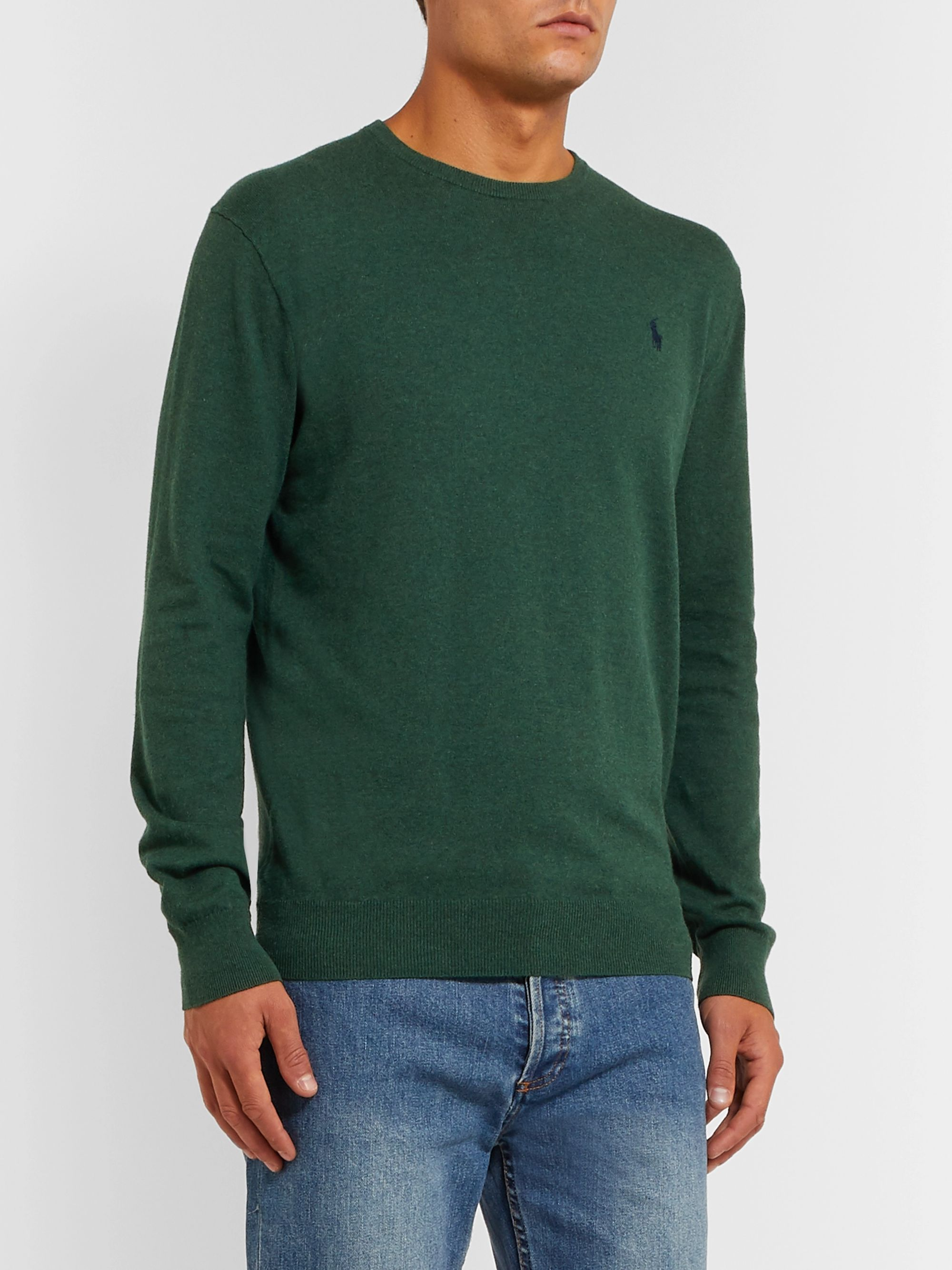 Polo Ralph Lauren Logo-Embroidered Pima Cotton Sweater