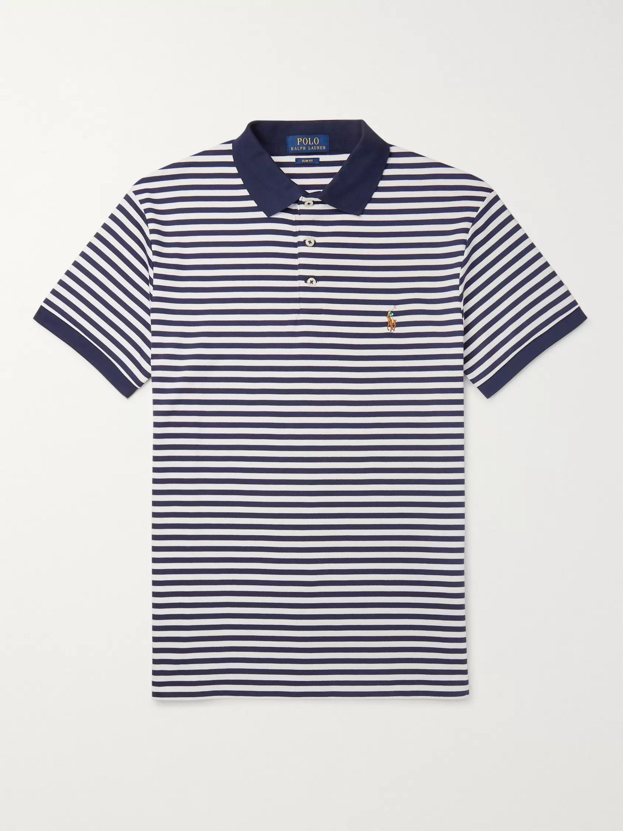 Fit Striped Polo Shirt Cotton Slim Jersey sQrxCBthd