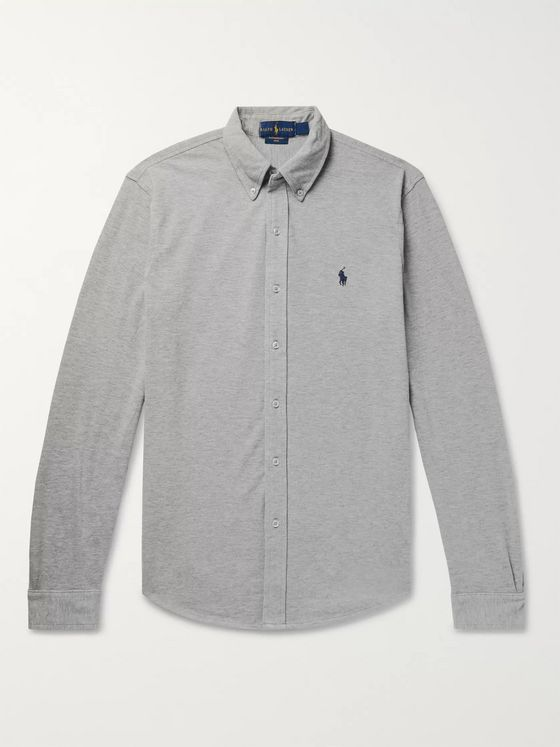 Polo Ralph Lauren Button-Down Collar Cotton-Piqué Shirt
