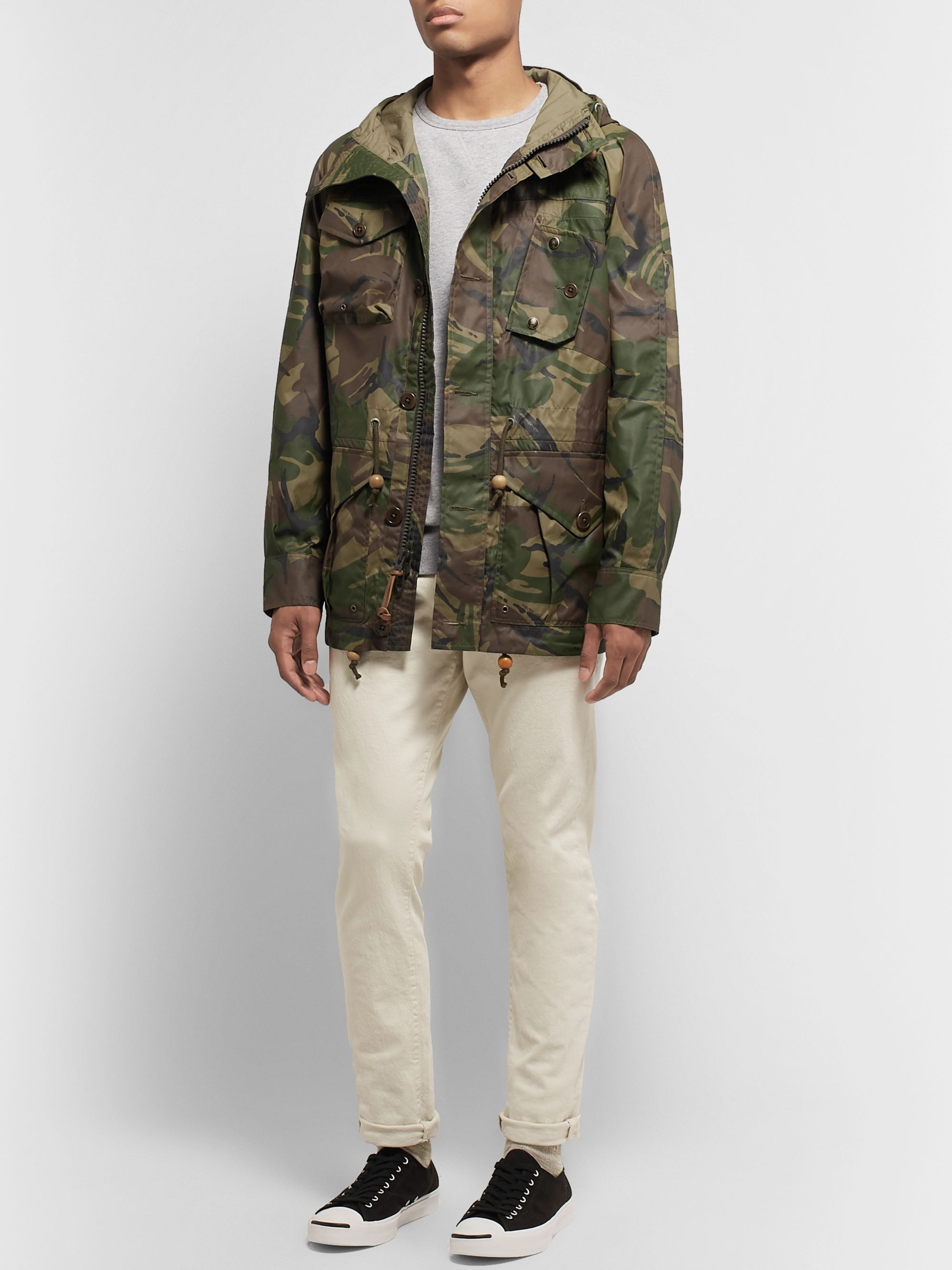Polo Ralph Lauren Camouflage-Print Waxed-Nylon Field Jacket