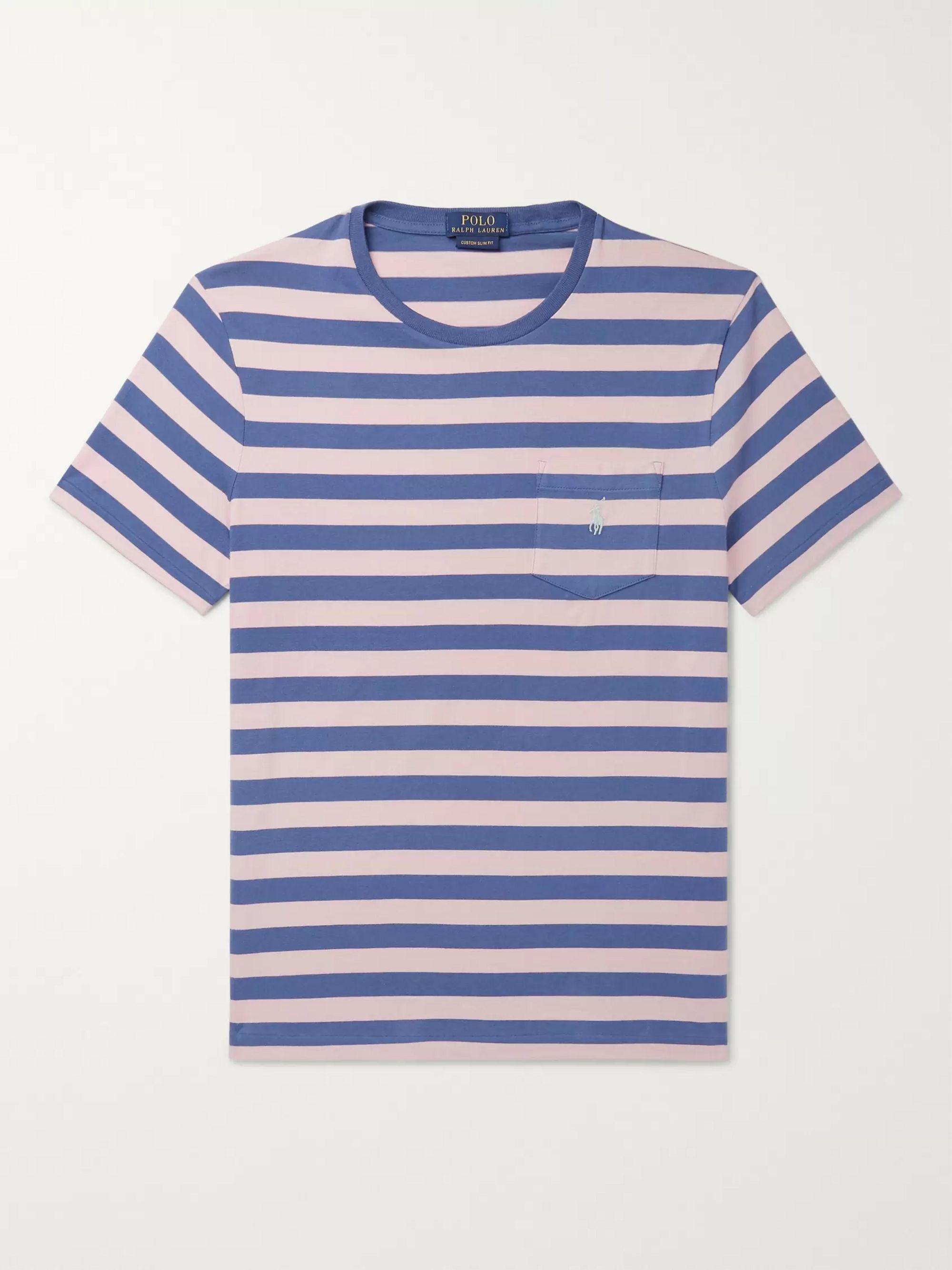 Cotton Jersey T Shirt Slim Striped Fit IybY6mfg7v