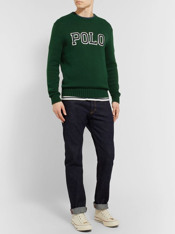 Polo Ralph Lauren Logo-Appliquéd Cotton Sweater