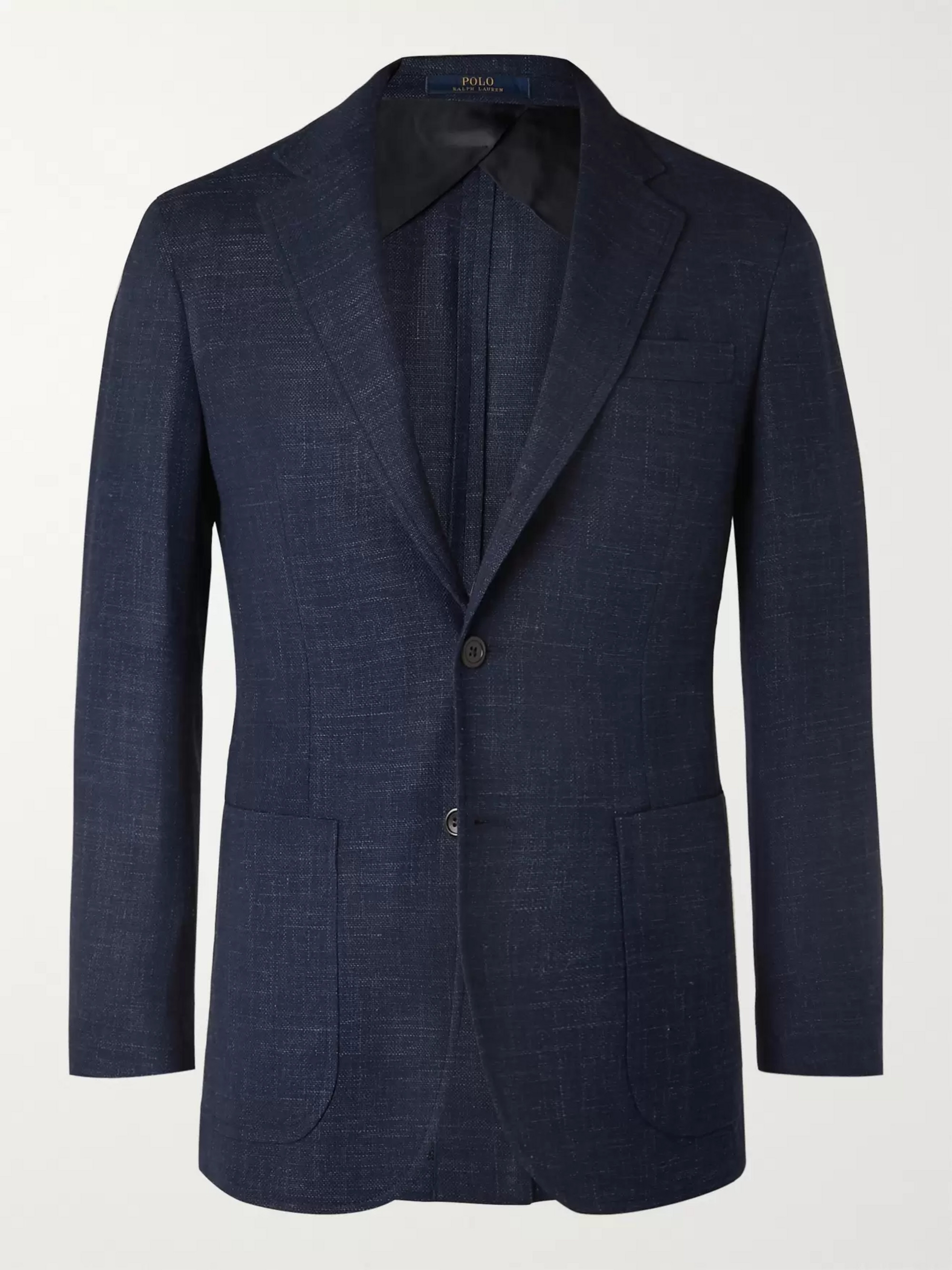 Polo Ralph Lauren Blue Slim-Fit Unstructured Wool-Blend Blazer