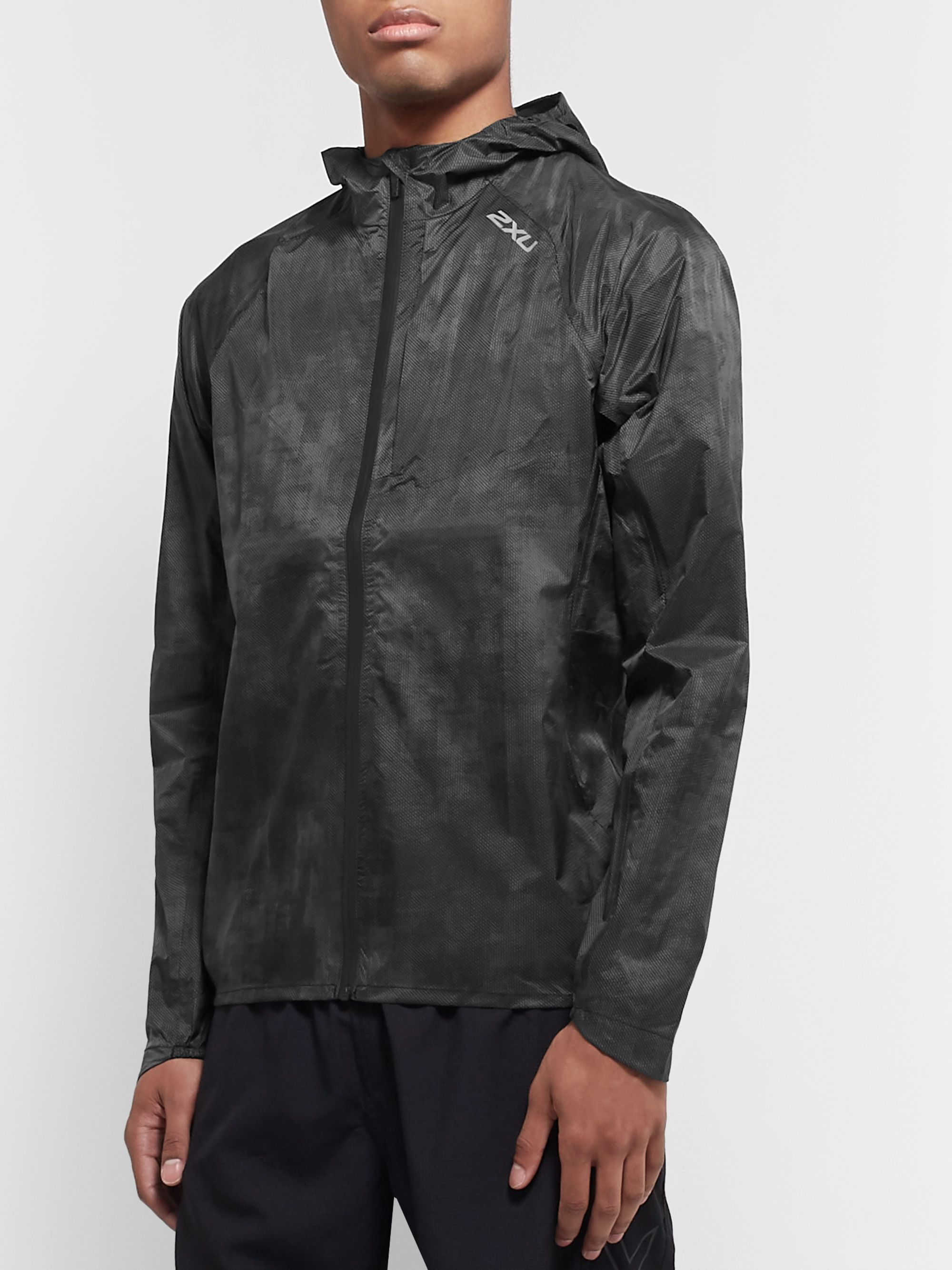 2XU Pursuit AC Printed Waterproof Nylon Hooded Jacket