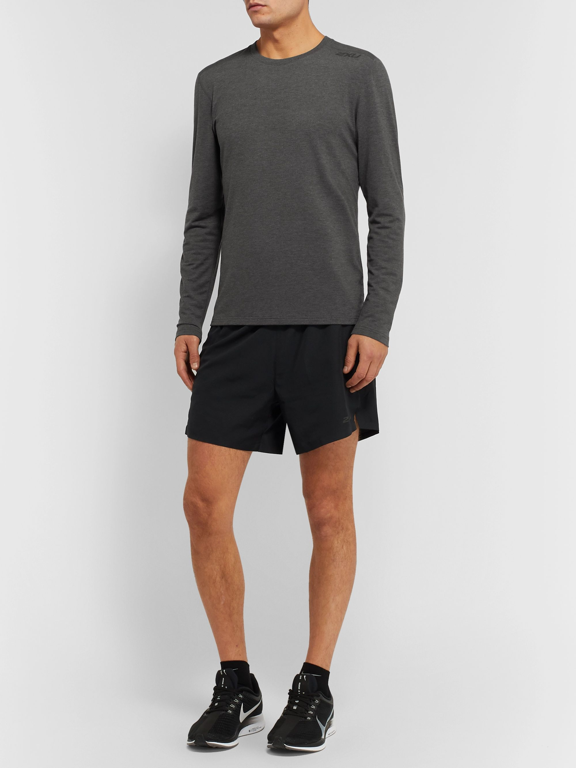 2XU Heat Mélange Stretch-Jersey T-Shirt