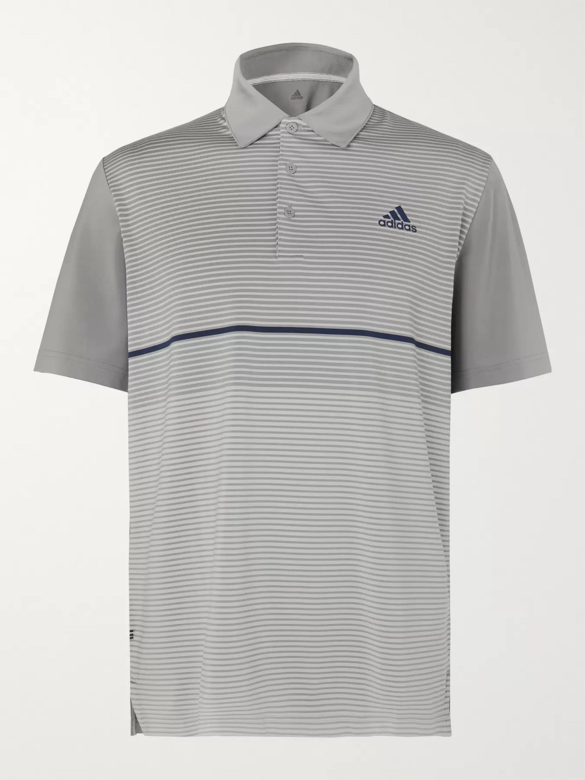 Adidas Golf Ultimate365 Striped Stretch-Jersey Golf Polo Shirt