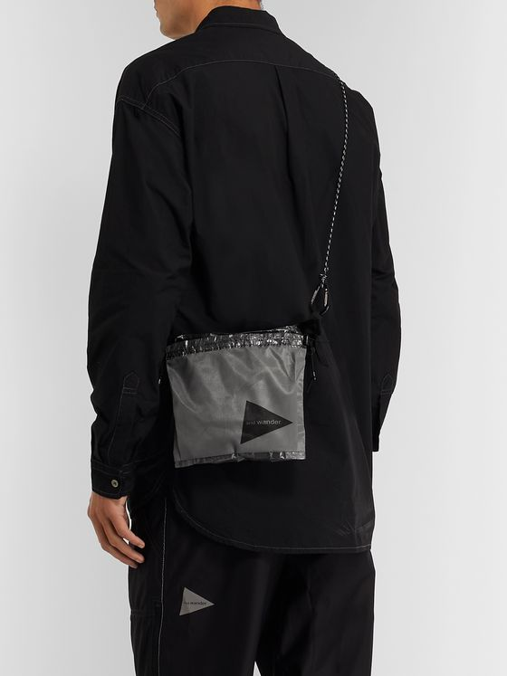 And Wander Shell and Mesh Messenger Bag