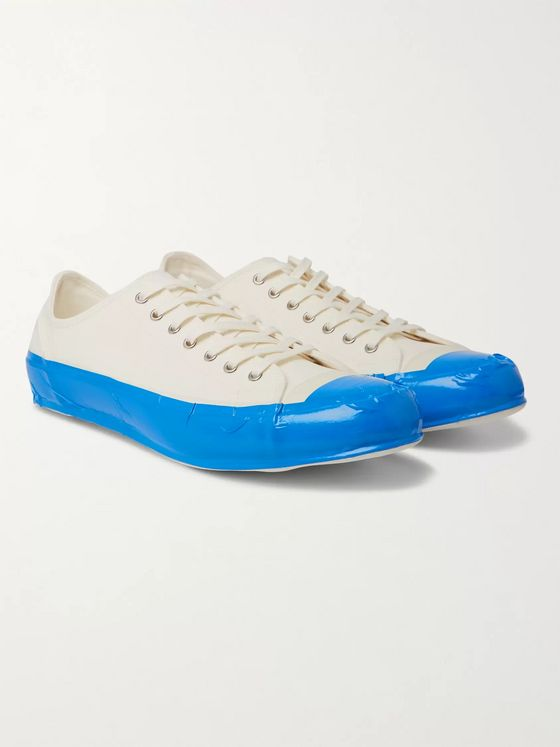 Comme des Garçons SHIRT Taped Cotton-Canvas Sneakers
