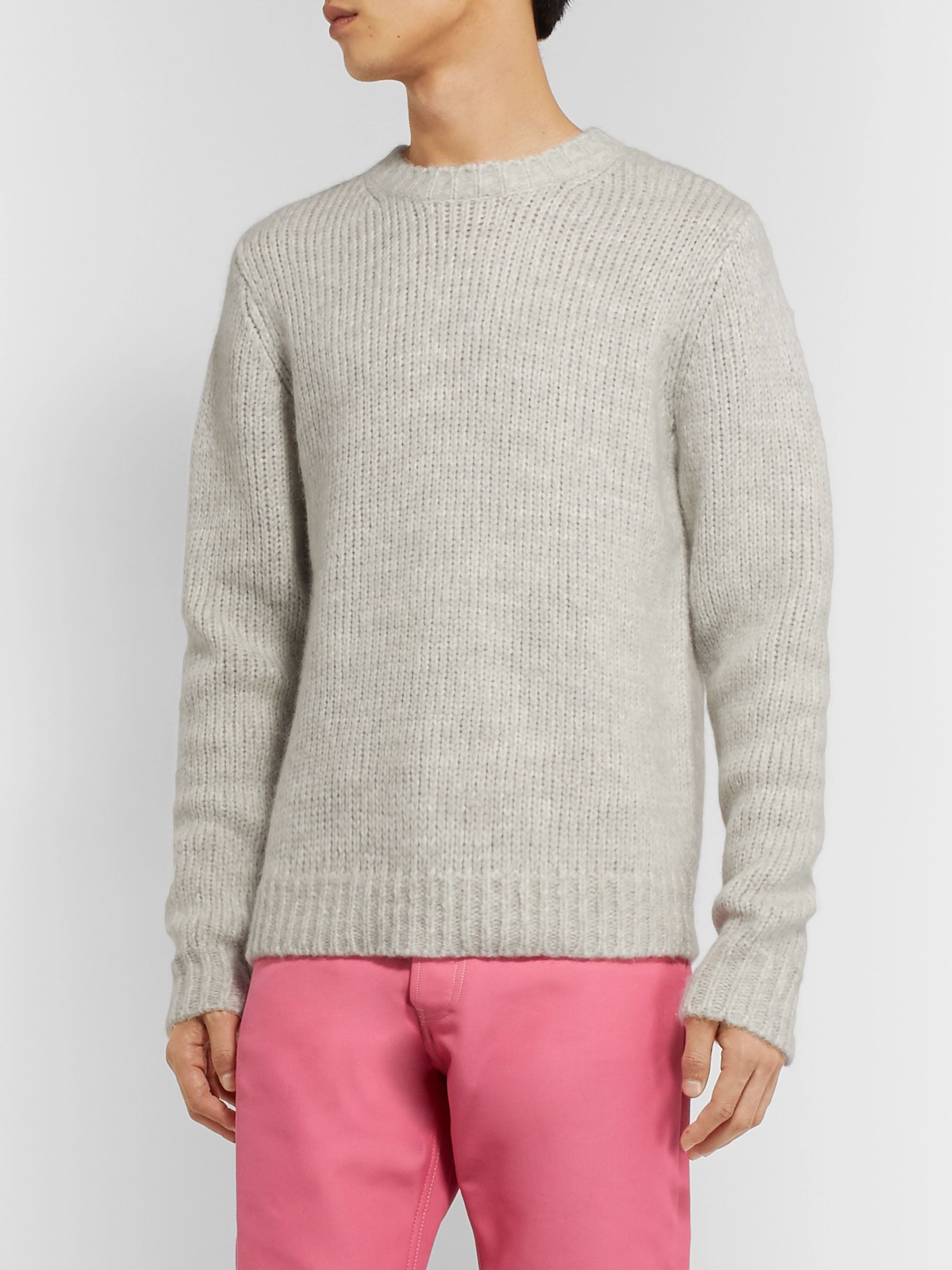 Helmut Lang Ribbed Mélange Knitted Sweater