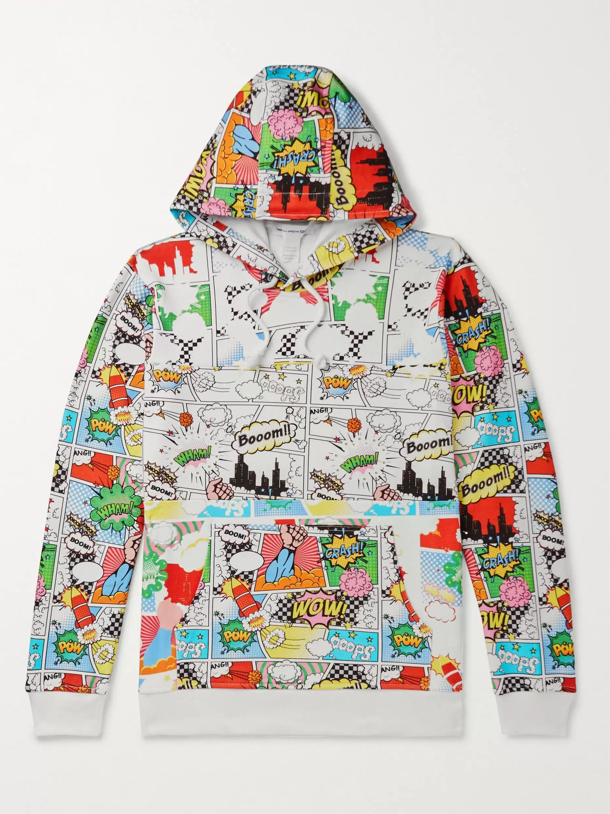 Comme des Garçons SHIRT Printed Loopback Cotton-Jersey Hoodie