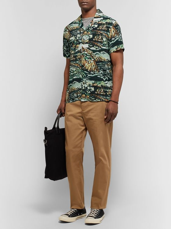J.Crew Camp-Collar Printed Woven Shirt