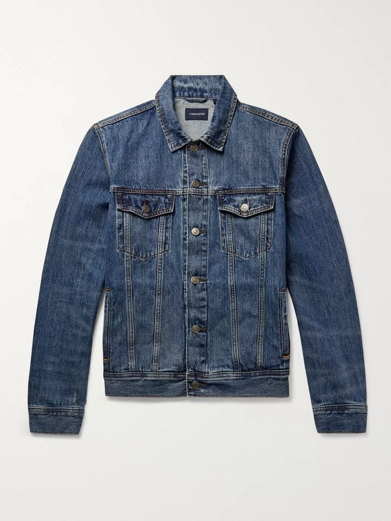 J.Crew Distressed Denim Jacket
