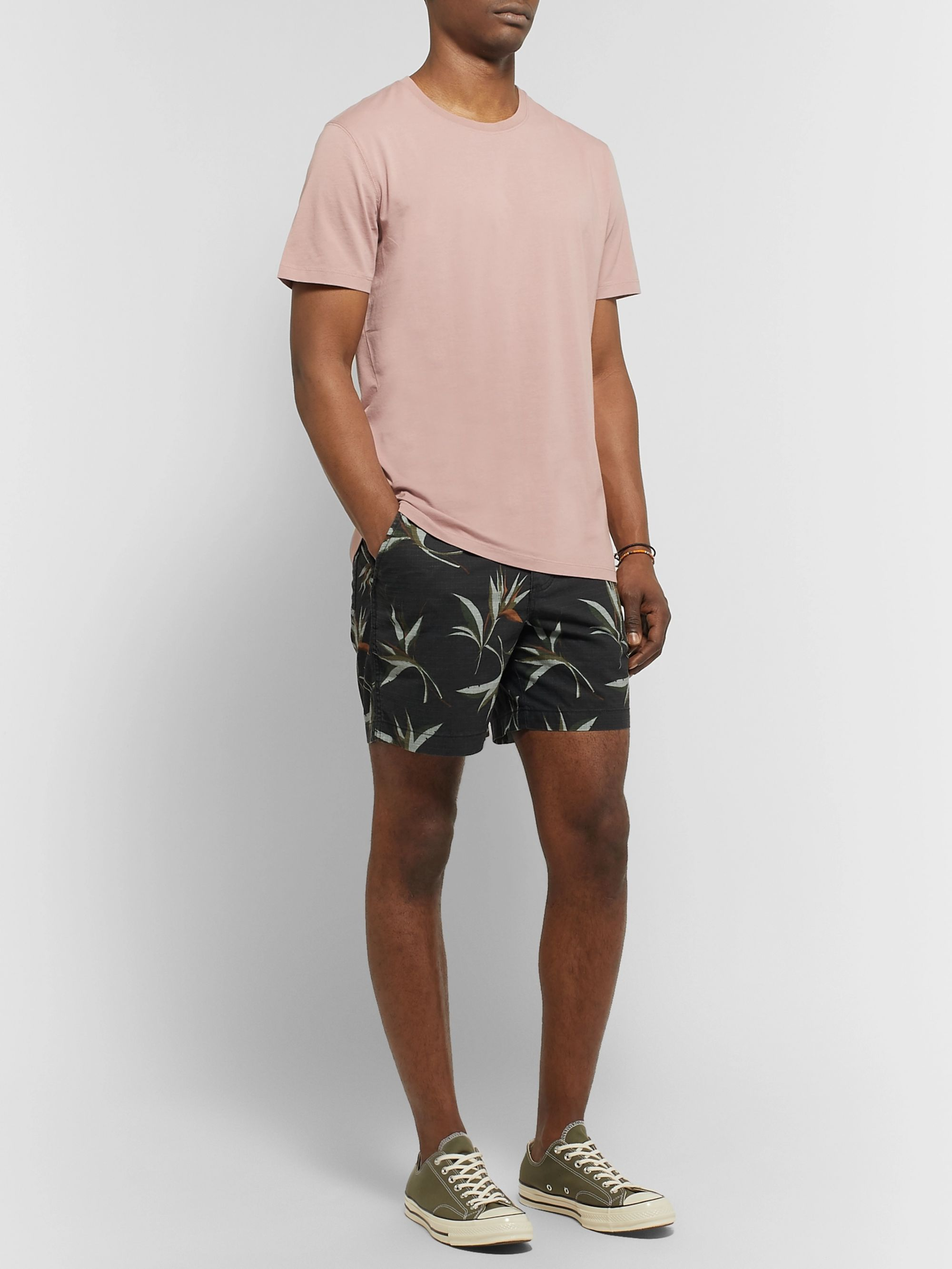 J.Crew Printed Cotton-Ripstop Shorts
