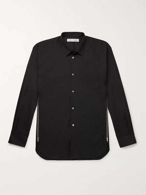 Comme des Garçons SHIRT Zip-Detailed Cotton-Poplin Shirt