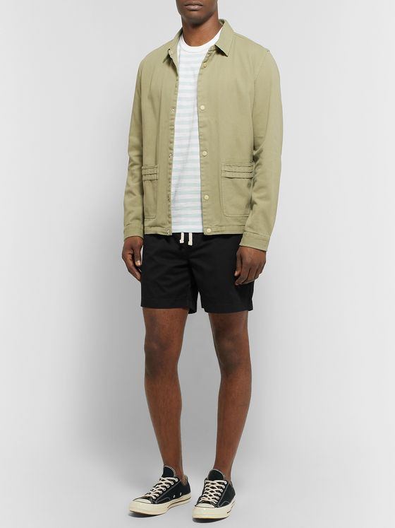 J.Crew Dock Garment-Dyed Stretch-Cotton Drawstring Shorts