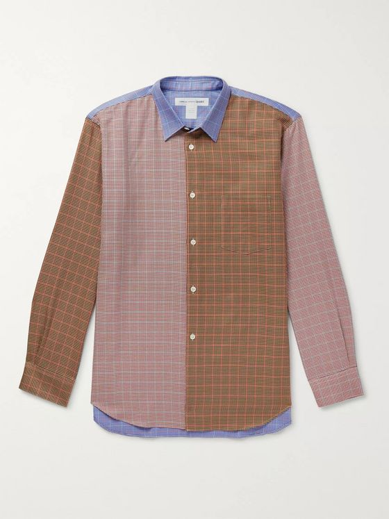 Comme des Garçons SHIRT Patchwork Checked Cotton-Poplin Shirt
