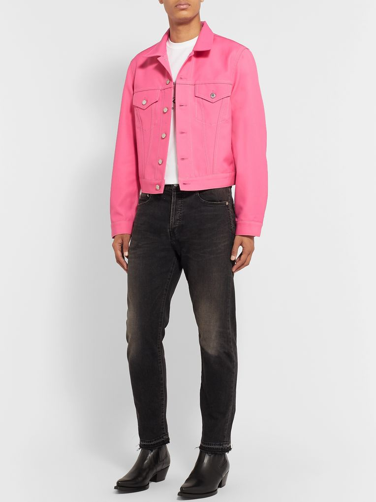 Helmut Lang Cropped Cotton-Blend Twill Trucker Jacket