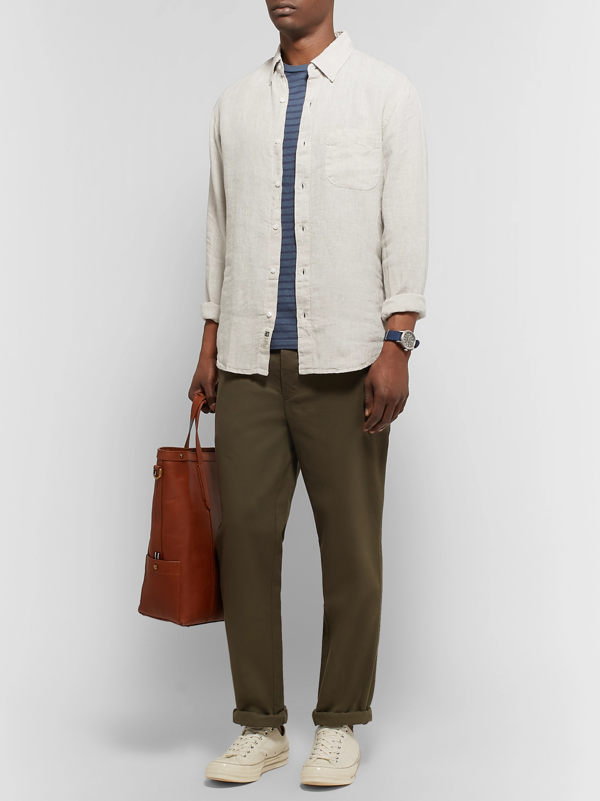J.Crew Slim-Fit Button-Down Collar Linen Shirt