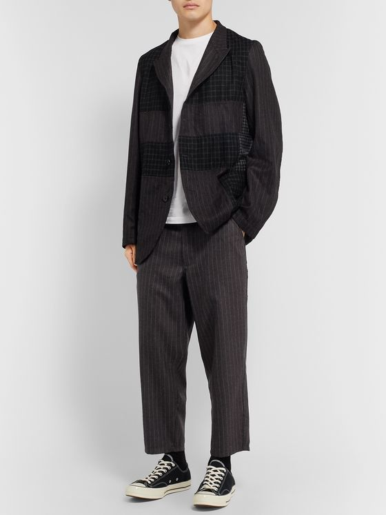 Comme des Garçons SHIRT Cropped Pinstriped Wool Trousers