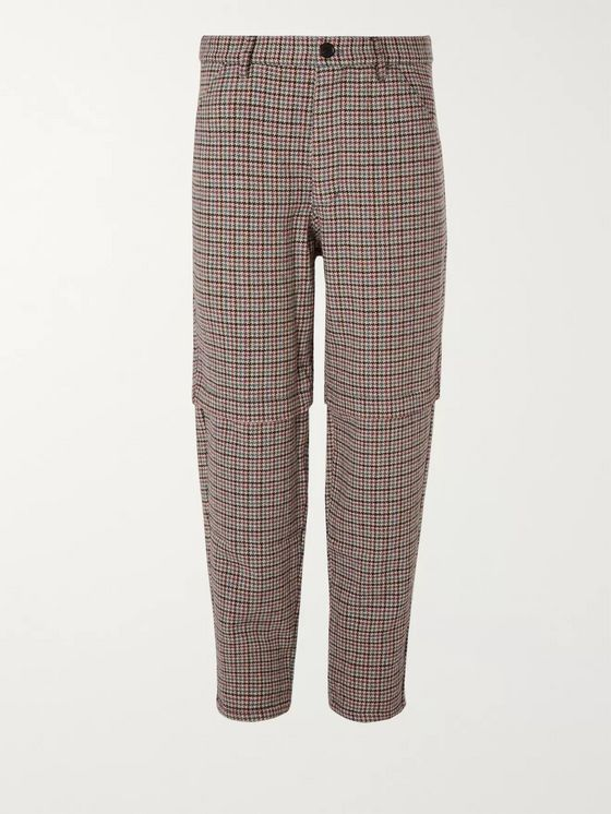 Comme des Garçons SHIRT Houndstooth Wool-Tweed Trousers