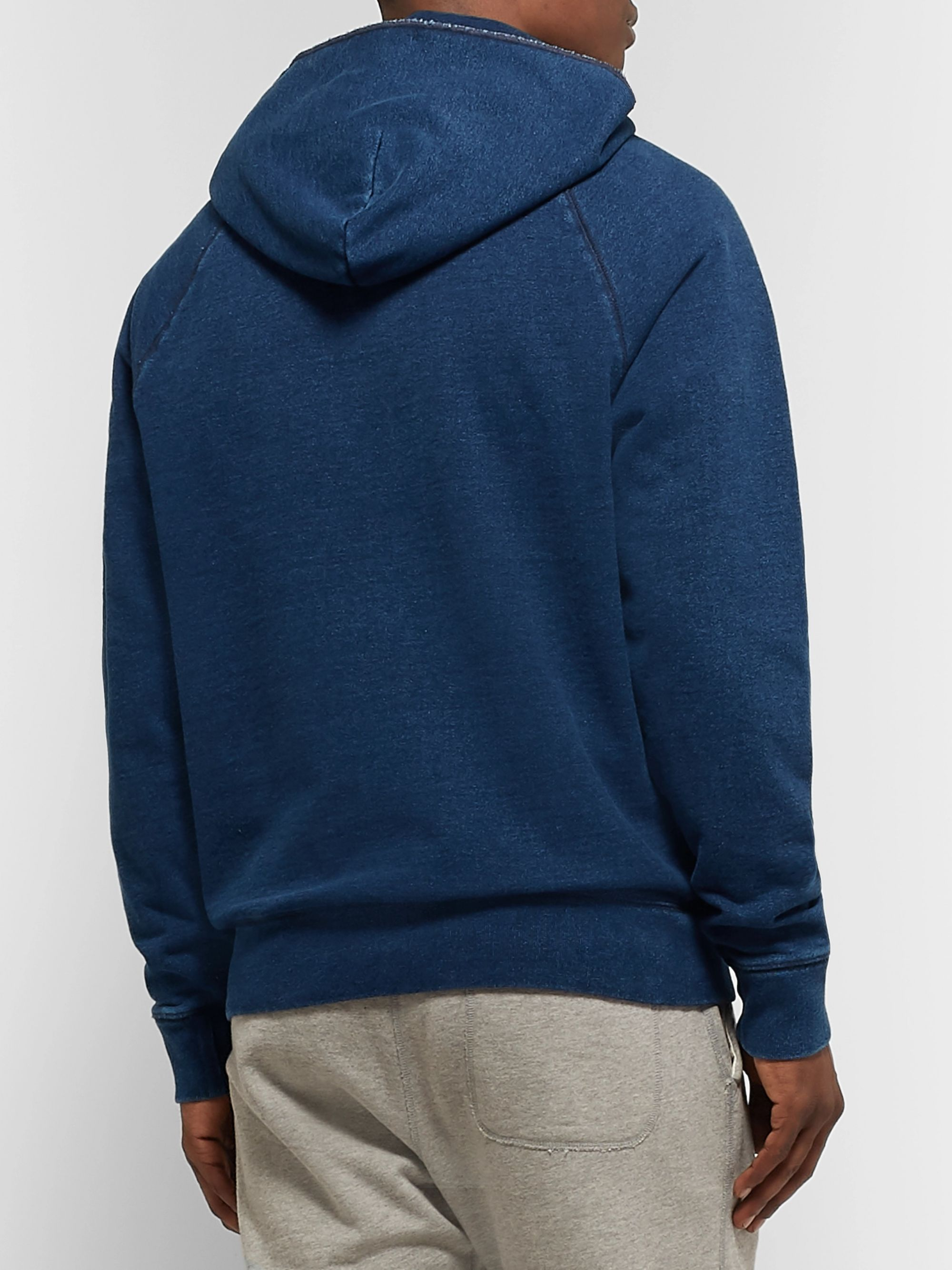 J.Crew Wallace & Barnes Fleece-Back Cotton-Blend Jersey Hoodie