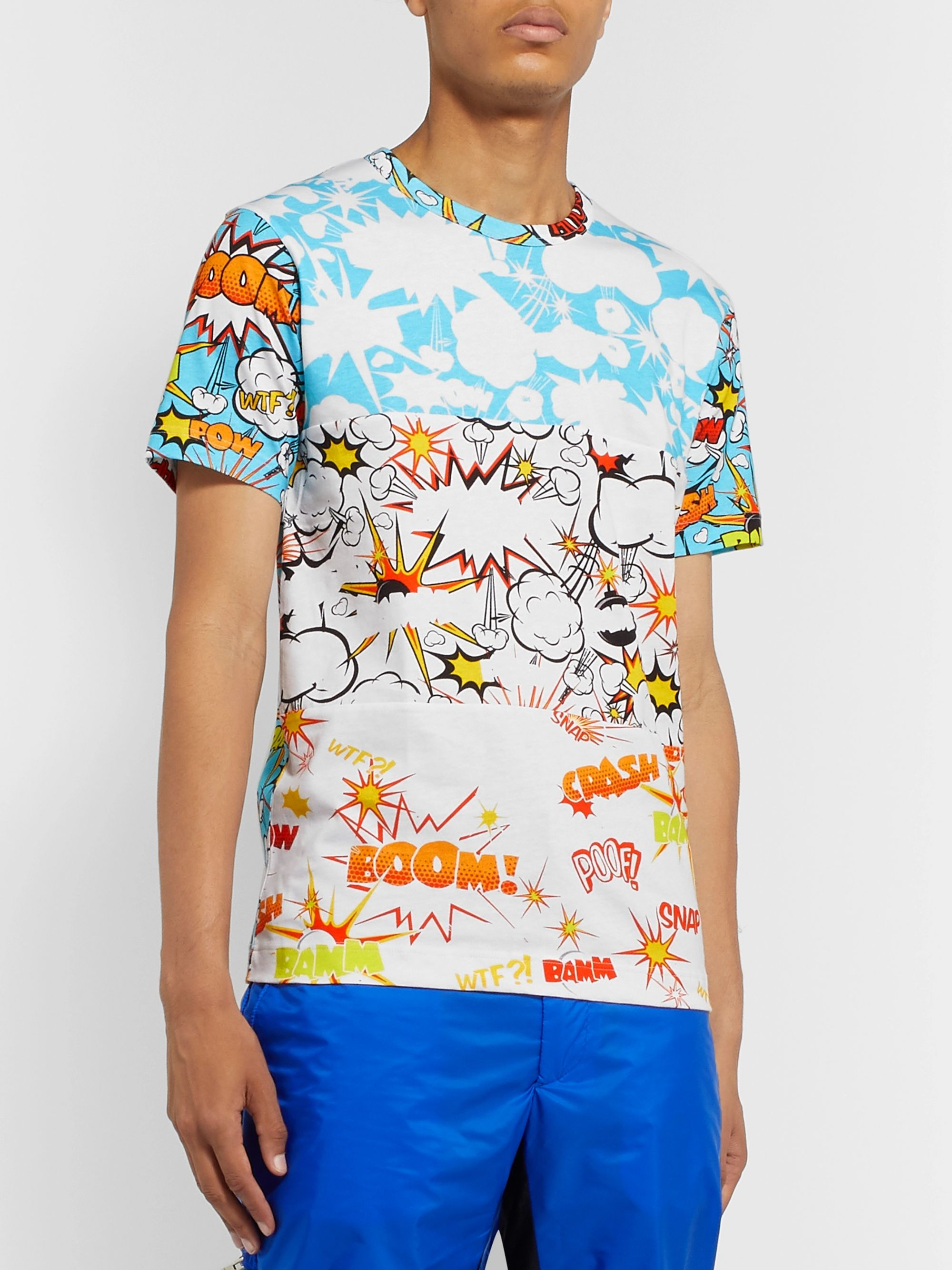 Comme des Garçons SHIRT Slim-Fit Printed Cotton-Jersey T-Shirt
