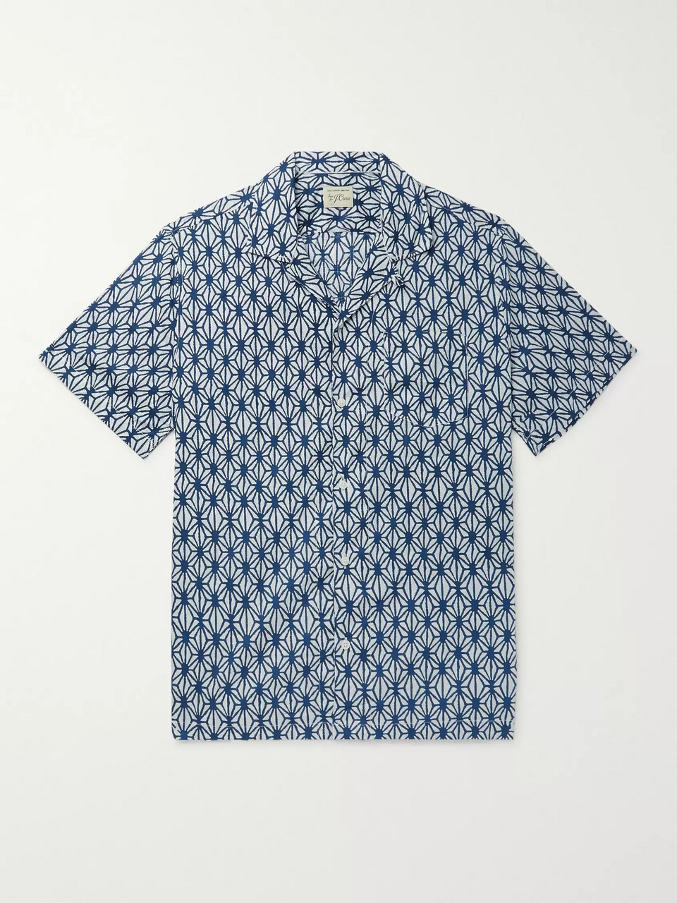 J.Crew Camp-Collar Printed Cotton Shirt