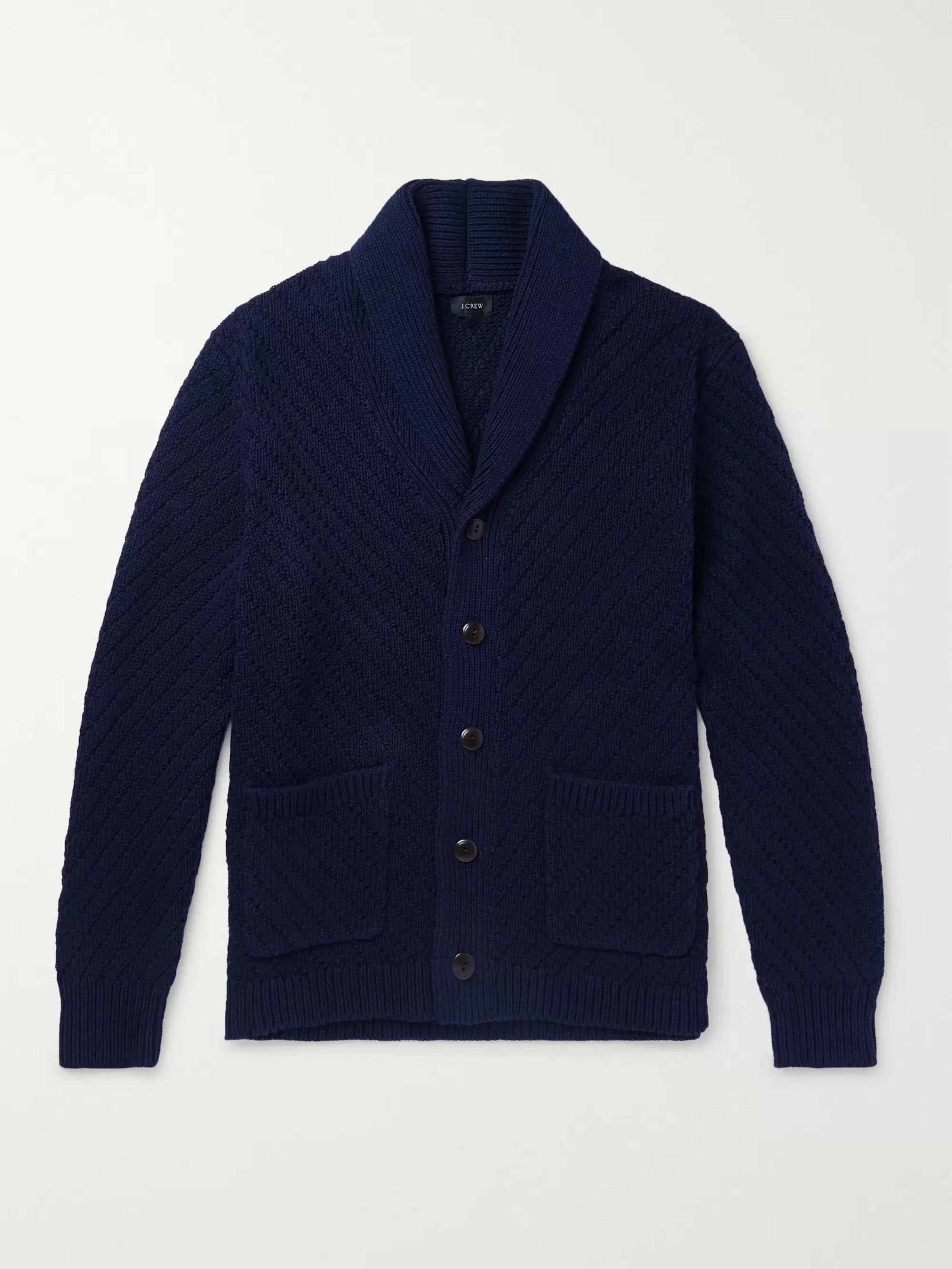 J.Crew Shawl-Collar Ribbed Cotton Cardigan
