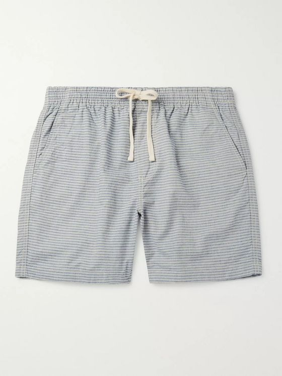 J.Crew Dock Striped Cotton-Chambray Drawstring Shorts