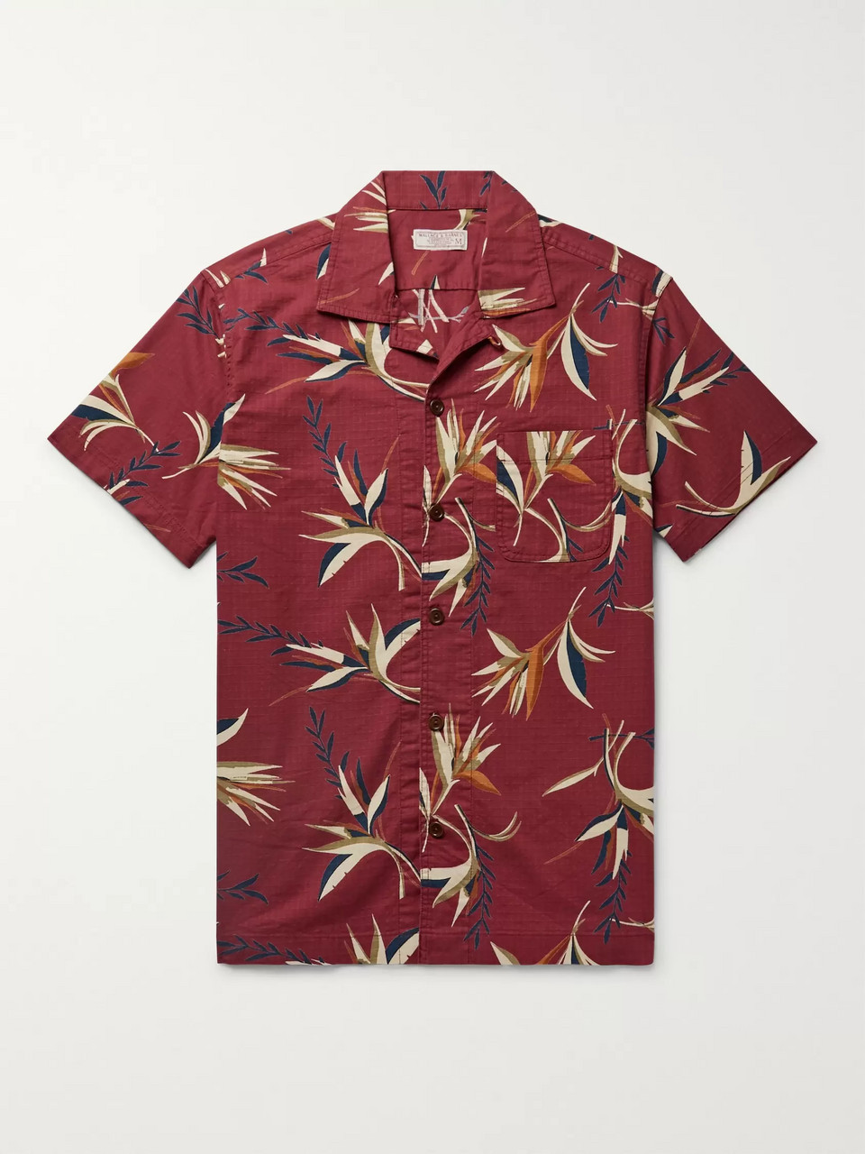 J.Crew Wallace & Barnes Camp-Collar Printed Cotton-Ripstop Shirt