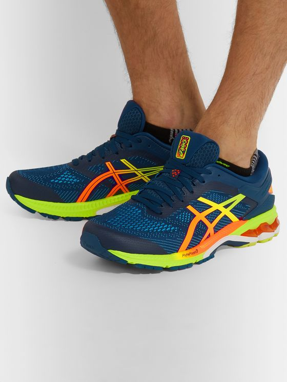 ASICS GEL-KAYANO 26 Mesh and Rubber Running Sneakers