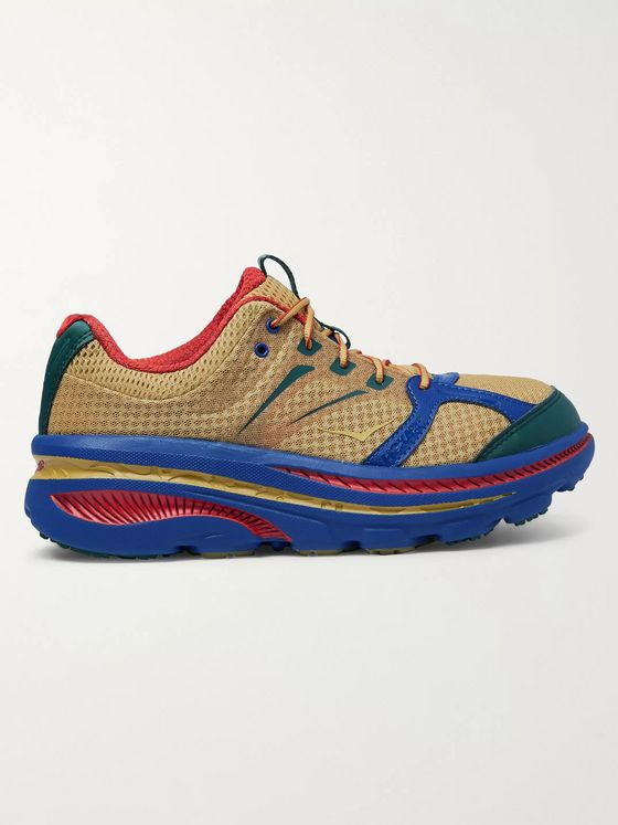 Hoka One One + Engineered Garments Bondi B Rubber-Trimmed Mesh Sneakers