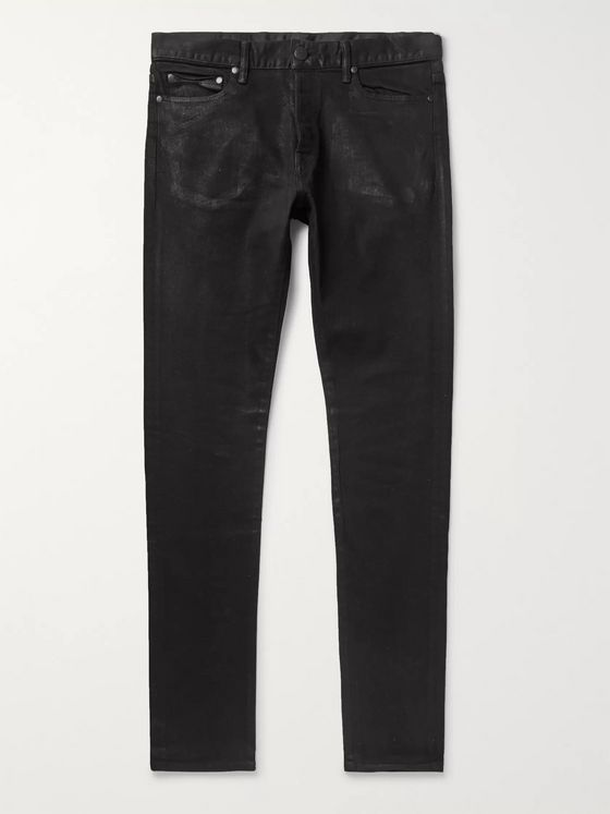 John Elliott The Cast 2 Slim-Fit Coated-Denim Jeans