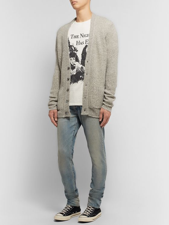 John Elliott Foggy Mélange Wool and Cashmere-Blend Cardigan