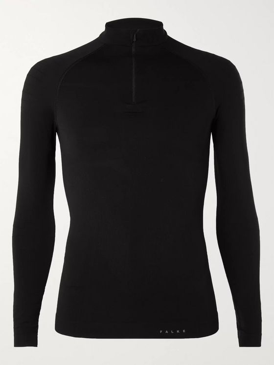 FALKE Ergonomic Sport System Warm Stretch-Jersey Half-Zip Top