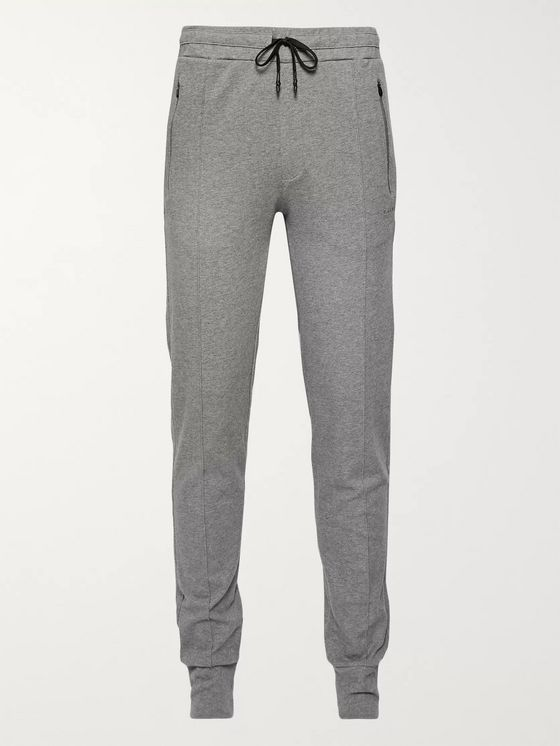 FALKE Ergonomic Sport System Tapered Cotton-Blend Jersey Sweatpants