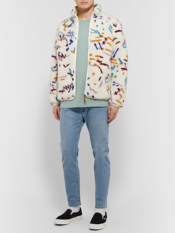 John Elliott Reversible Printed Fleece and Shell Jacket